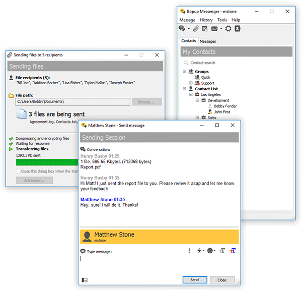 Click to view Bopup Messenger 6.3.3 screenshot