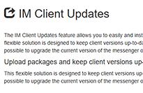 IM Client Updates view