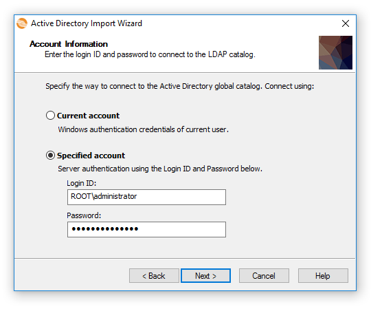 Import User accounts from the Active Directory (LDAP
